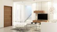 Salon, wnętrze nowoczesne, drzwi Lido